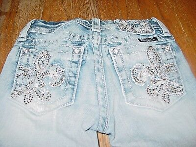 6ea73b81 GIRLS SIZE 8 Miss Me Embellished Ripped Bootcut Jeans EUC - $30.00 ...