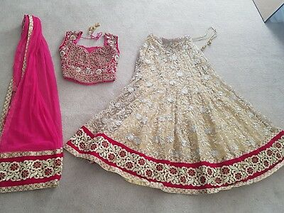 Beautiful Pink And Gold Lengha
