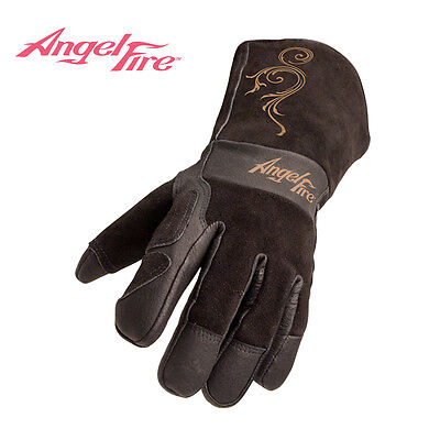 AngelFire® Prem. Split Cowhide Stick/MIG Gloves for Women Size Med