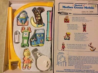 Brand new Vintage NURSERY PLASTICS Mobile  Musical Mother Goose Mobile