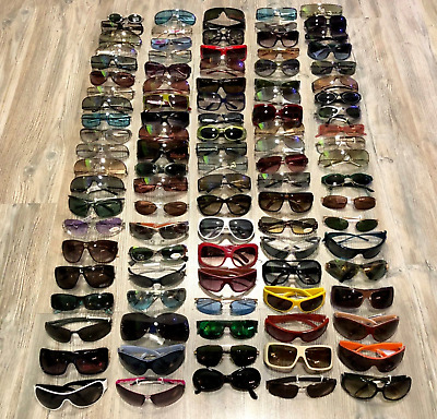 Lot Of 100 Pairs Of Sunglasses Made In Italy New And Authentic 100%