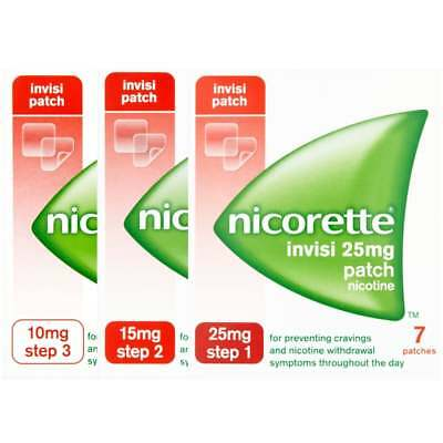 Nicorette Patch Step 1 25MG/ Step 2 15MG/ Step 3 10MG