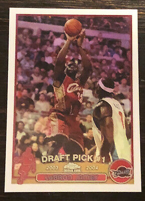 2003-04 Lebron James Topps Chrome Rookie Refractor REPRINT Rc