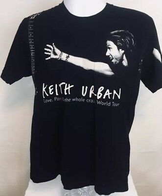 Keith Urban Love, Pain, & The Whole Crazy 2007 World Tour Black T-Shirt
