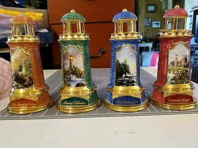 Thomas Kincaid Lighthouses: Peace, Salvation, Split Rock Light, Victorian No Box