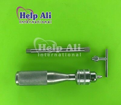 Hand Drill Chuck 16cm Stainless Steel Orthopedic Instruments