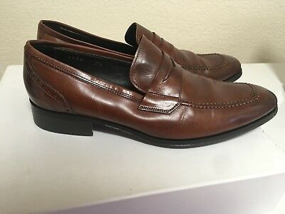051729e3cf1 To Boot New York Moore Penny Loafer Dress Shoe Mens Brown Made in Italy  Size 7.5