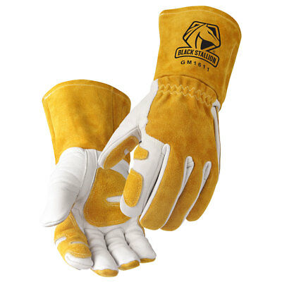 Cowhide MIG Glove Reinforced Palm & Thumb Size L    (Free Shipping Aust Wide)