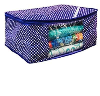 Cotton Saree Bag Garment Bed Covers Wardrob Organiser Storage Bag 1 Pc-Purple
