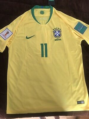 c6635e4df Philippe Coutinho Brazil National Soccer Team New Men s Home Jersey - Size  XL