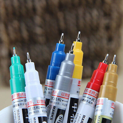 Thin 0.7MM Permanent Oil Paint Marker Art Drawing Painting Pen Car Tyre Tire UK