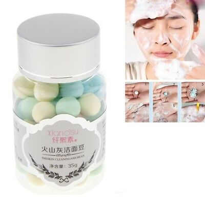 4 in 1 Natural Face Wash Cleansing Foam Facial Cleanser Oil Control Beans