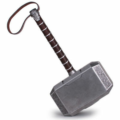 US! The Avengers 1:1 Full Metal Thor Hammer Halloween Cosplay Replicated Props