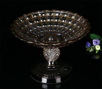 NGNSDEU GNIGFNEW Classical vintage Crystal Compote champagne gold glass fruit