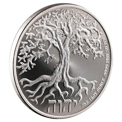 2018 The Tree Of Life Niue 1 oz .9999 BU Silver Round $2 Truth Coin Series