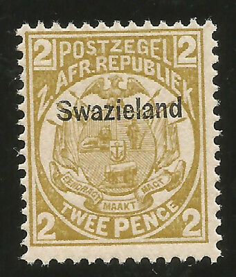 Swaziland First Issue Overprinted Mint Never Hinged Stamp Scott Nr. 3 SCV$32.50