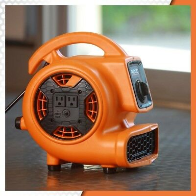 Blower Fan Air Mover 3 Speed 600 CFM 1/5 HP Adjustable Vent Daisy Chain Orange