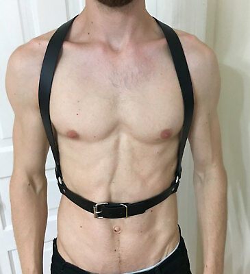 Men Leather Restraint Body Harness Belts Straps Suspenders Braces Armor Costumes