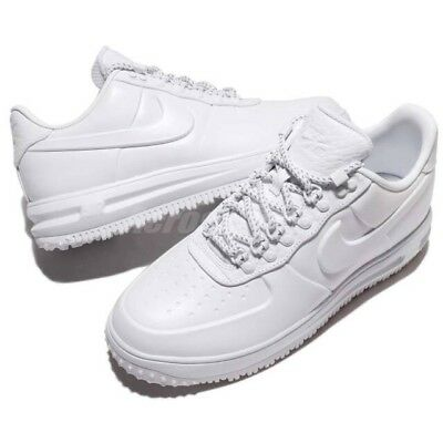 406bc1056e1 NIKE AIR LUNAR Force 1 Duckboot Low PRM Triple White 9 Boots Sneaker  AA1124-100