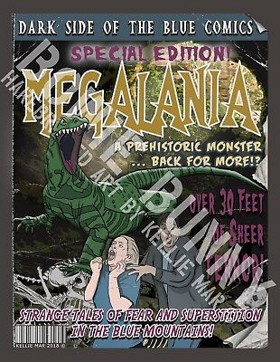 Greeting Card - The Megalania Monster - Blue Mountains, NSW Australia