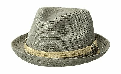 BAILEY OF HOLLYWOOD Men s Romeo Braided Straw Fedora Trilby Hat Navy ... 559896f581cd