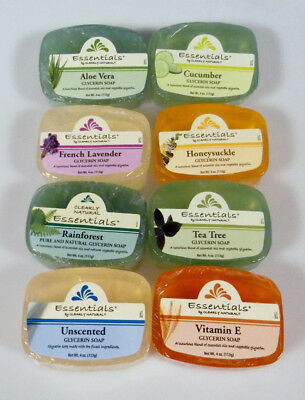 Clearly Natural Glycerin Soap Bar Choose 2 Pack 4 Oz  Aloe Vera Unscented & More