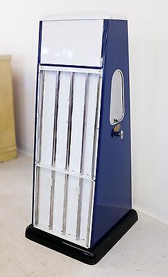 Vintage Original Seloil Oil Can Rack Display Service Cabinet Double Sided