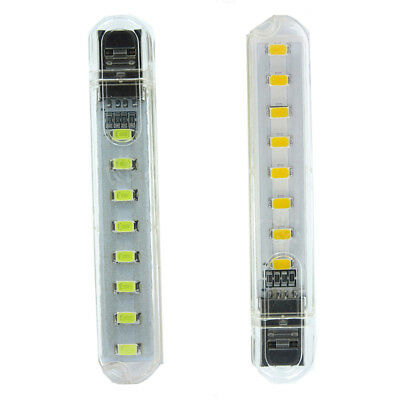 USB LED Lamp 8LED Lamp Lighting Computer Night Light For Mobile Power Reading EU