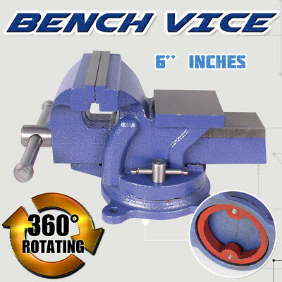 """6"""" Inch 150mm Heavy Duty Bench Vice Table Grip Clamp  Free Swivel Base Cast iron"""