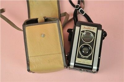 Vintage Duaflex 2 Camera In Case Made In England Untested