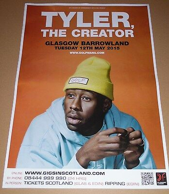 TYLER THE CREATOR live music show promotional tour concert poster - golf wang