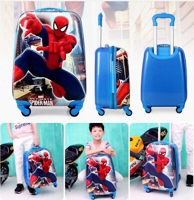 2018 Kids Character Hard Shell 4 Wheel Travel Luggage Cabin Suitcase Trolley Bag
