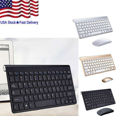 MINI Slim Wireless Keyboard 78 keys USB Mouse Mice Combo for PC Laptop Desktop