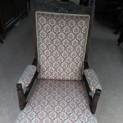 2 x Original Carved oak early 20ct Jacobean style upholstered Carver Chairs