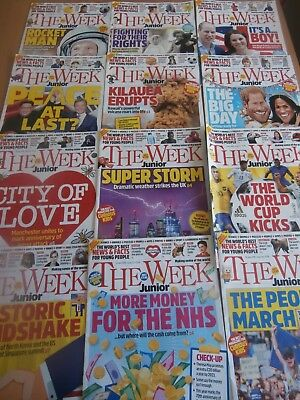 The Week Junior magazine 12 issues (April - June 2018)