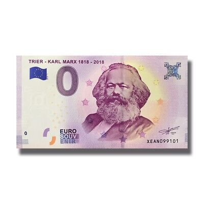 Germany 2018 Trier KARL MARX 0 Euro Banknote 004961 BEST PRICE