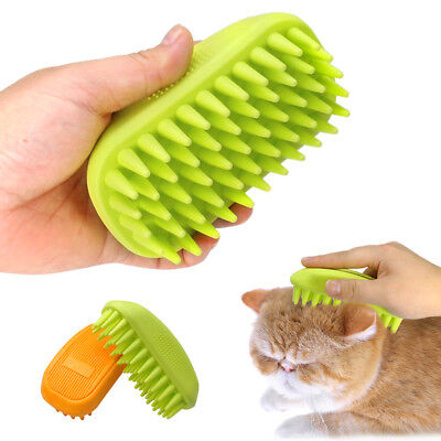 Dog Cat Pet Grooming Shower Bath Brush Rubber Comb Anti Skid Hair Fur Grooming