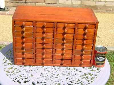 Vintage Pine 32 Drawer Collectors Cabinet/Chest