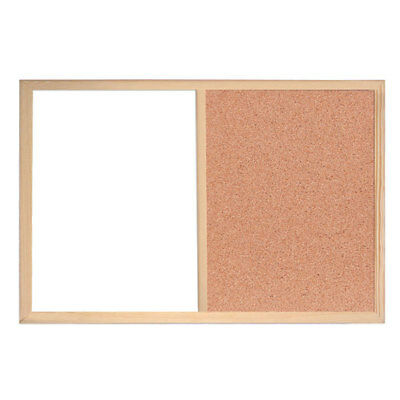 Framed Magnetic Drywipe White /& Cork Dual Combo Notice Combi Board 600mm x 400mm