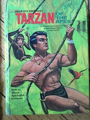 Tarzan Of The Apes (Whitman 1964) With Official Ape-English Dictionary