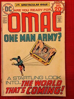 Omac #1 (DC COMICS Sep 1974) First Issue! Jack Kirby Art & Writing, Bronze Age