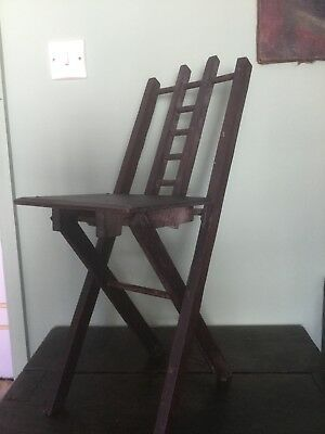 Vintage Chair, Charles Rennie Macintosh Interest. Portable Fold Down