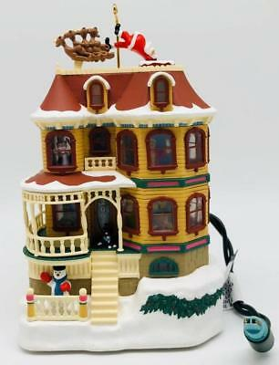 2001 Up On The Housetop Hallmark Ornament House and Shops
