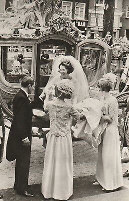 ***ORIGINAL POSTCARD***PRINZESSIN BEATRIX-PRINZ CLAUS-Oranje-ROYAL WEDDING-1966