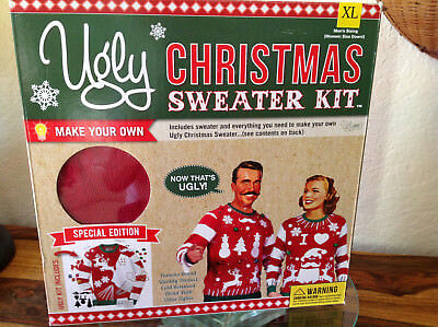 Ugly Christmas Sweater Kit Special Edition Make Your Own Mens S Red