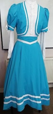 Edwardian  style theatrical costume. skirt and bolero. 36 bust. good condition