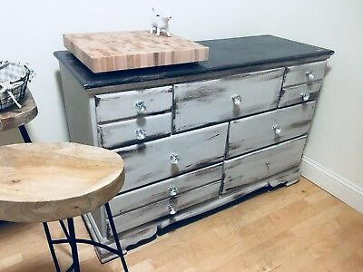 """Antique Dresser with Shabby Chic Distressed """"Chalk"""" Paint Finish"""