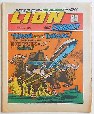 LION and THUNDER Comic - 2nd March 1974