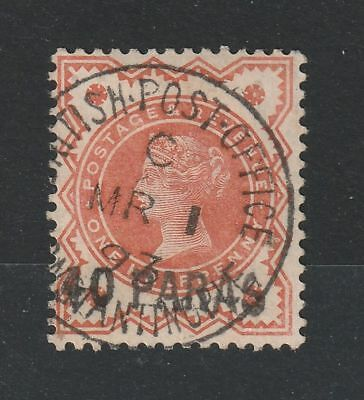 British Levant 1893 SG # 7 variety BROKEN S vf used Signed experts