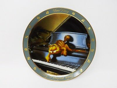 """The Danbury Mint """"I Composed Myself"""" Dear Diary Series Garfield Collector Plates"""
